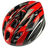 BESSKY 18 Vents Adult Sports Mountain Road Cycling Ultralight Helmet (Red)