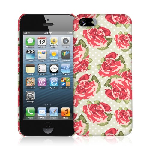 EMPIRE Signature Series One Piece Slim-Fit Case Tasche Hülle for Apple iPhone 5 / 5S - Vintage Red R