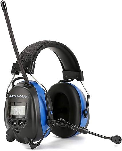 Rechargeable Ear Defenders Bluetooth FM//AM Digital Radio Built-in Microphone