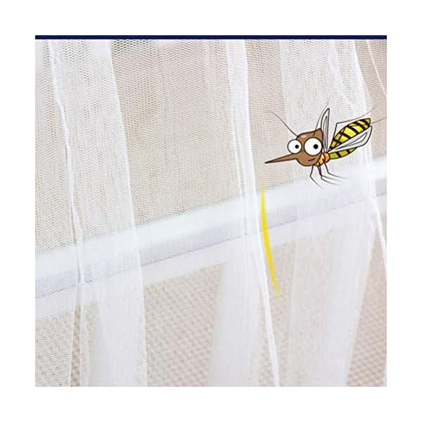 ZXYSR Zanzara del Bambino Tenda del Gioco del Bambino Baldacchino Drape Zanzariera con Supporto, Rotonda Baldacchino,Blu 3 spesavip