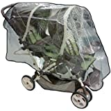 Sashas Rain and Wind Cover for Graco Ready2Grow and DuoGlider Double Stroller