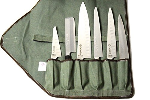 Boldric Green Canvas 6 Slot Knife Bag