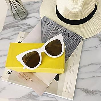 VVIIYJ Las Gafas de Sol Blancas de Las Lentes de Sol ...