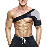 WEIJI Shoulder Stability Brace, Breathable Neoprene Shoulder Support with Pressure Pad for Rotator Cuff, Dislocated AC Joint, Labrum Tear, Shoulder Pain, Shoulder Compression Sleeve
