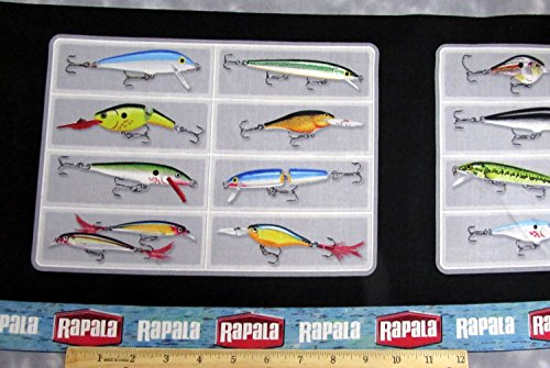 Rapala Fishing Lures Fabric Sold by the Panel