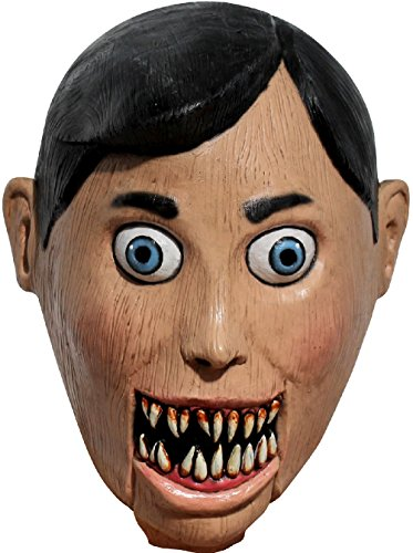 Marionette Puppet Halloween Costume (Evil Puppet Adult Latex Mask Creepy Scary Wooden Marionette Halloween Accessory)
