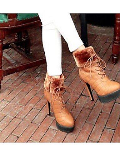Cn37 us8 Anfibias Sintético Tacón Negro 5 De Stiletto Botas Eu39 us6 Zapatos Eu37 Rojo Xzz Vestido Brown Cn39 Uk6 5 Marrón Casual Red Mujer 5 7 Uk4 6xYvFwn