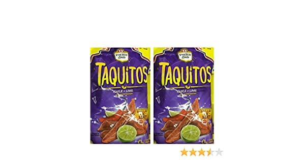 Amazon.com: Pueblo Lindo TAQUITOS Rolled Corn Chips chile & lime 9.9 oz 2 BAGS