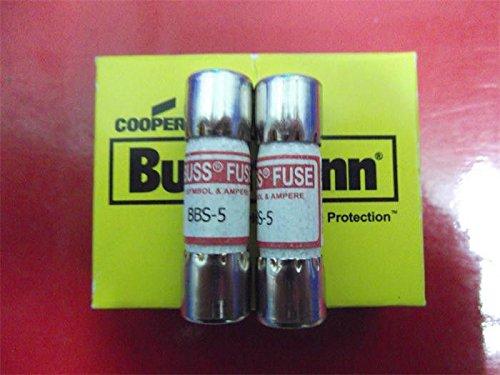 - BUSSMANN AMP=5 BBS-5 AMP=5 600V Midget Fast Acting Fuse BUSS (10 FUSES)