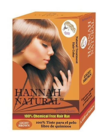 Amazon Com Hannah Natural 100 Chemical Free Hair Dye Light Brown