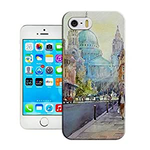 LarryToliver First Design Funny Beautiful Customizable Watercolor style architecture Printed Durable Plastic iphone 5/5s Case