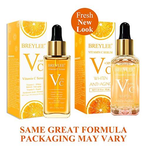 51CCJJgTFKL - Vitamin C Serum, BREYLEE Anti-Aging Facial Serum with Hyaluronic Acid, Retinol, and Vitamin E Moisturizing Face Serum for Skin Whiten Skin Brighten, Fades Sun Spots (40ml, 1.41oz)