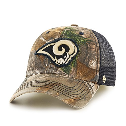 ('47 NFL St. Louis Rams Realtree Huntsman Closer Stretch Fit Hat, Large/X-Large, Realtree Camo )