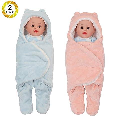 Saco para bebé Envoltura gruesa Saco Manta con pierna y gorra Niño niña, Saco de dormir ...