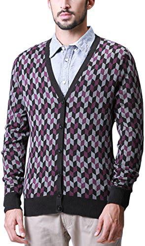 セーター メンズ Vネック ニット カーディガン#Z1507