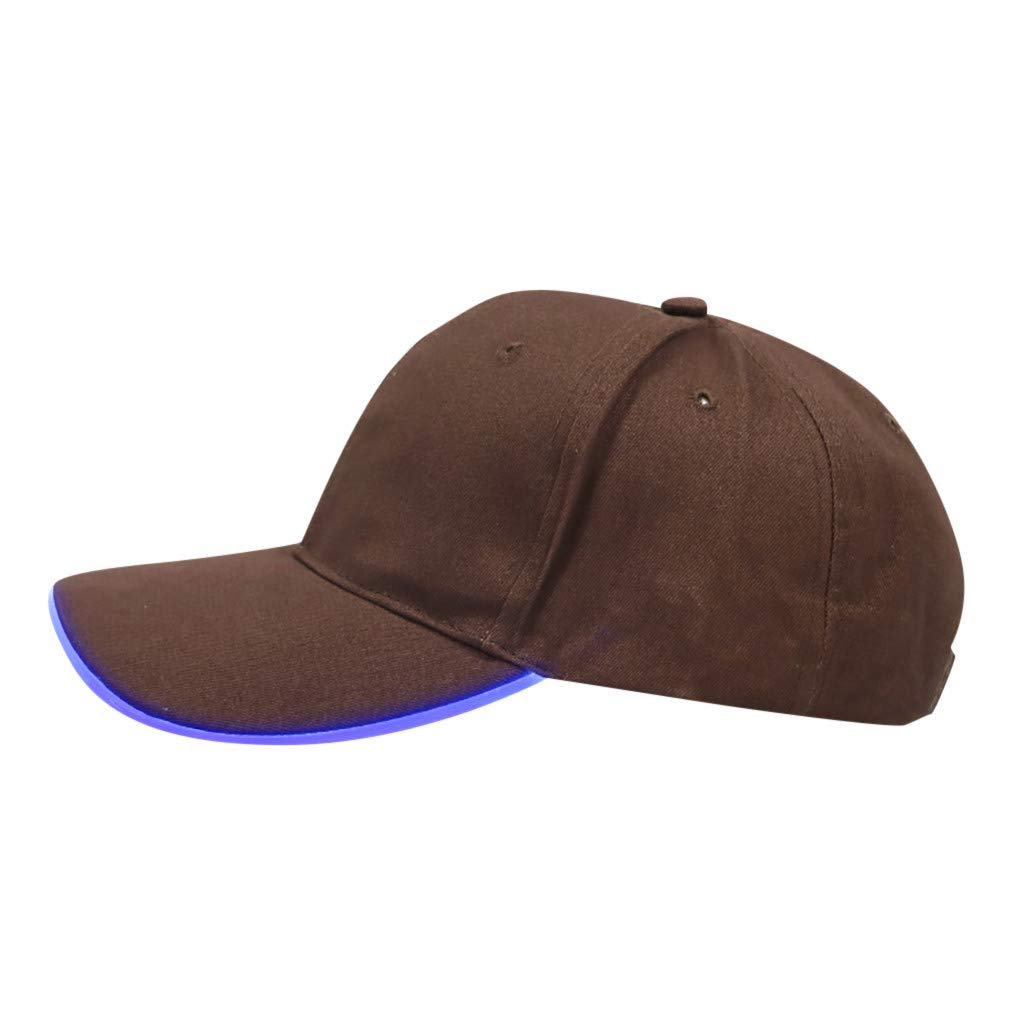 6660c65d812ba Amazon.com  WUAI Novelty LED Light Up Baseball Cap - Snapback Hat Bump Cap  with LED Brim Lighting  Clothing