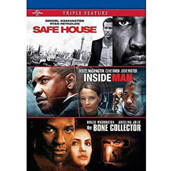 Denzel Washington Triple Feature Safe House Inside Man Bone