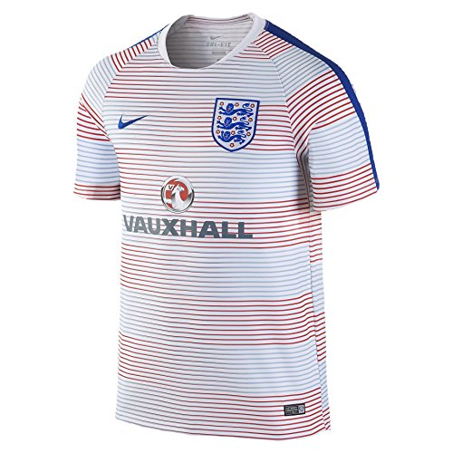 (Nike England Pre-Match Training II Soccer Jersey (Small) White)