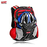 Cheap Arltb 20L Bike Backpack with Helmet Storage (2 Colors) Cycling Hiking Travel Daypack Waterproof Motorcycle Backpack Lightweight Motorcycle Helmet Bag for Cycling Running Hiking Camping (Blue)
