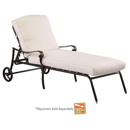 Amazon Com Hampton Bay Edington Patio Chaise Lounge With Bare