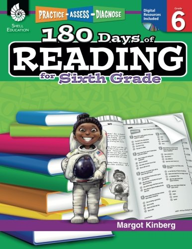 (180 Days of Reading: Grade 6 - Daily Reading Workbook for Classroom and Home, Reading Comprehension and Phonics Practice, School Level Activities ... Challenging Concepts (180 Days of Practice))