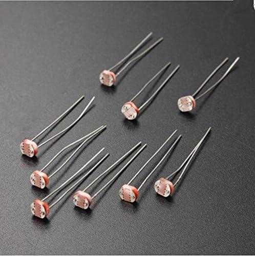 200PCS 5528 5MM 10K-20K Photoresistor Light-Dependent Resistor Sensor GL5528