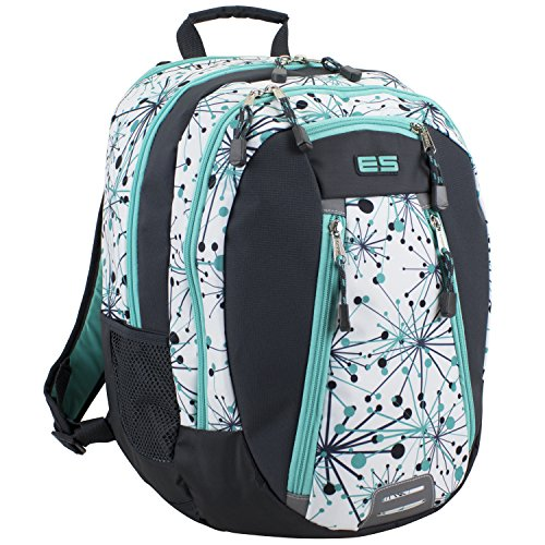Eastsport Sport Backpack for School, Hiking, Travel, Climbing, Camping, Outdoors - Mint Star Print