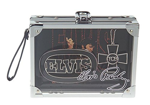 Elvis Presley Rock Box with Silvertone Necklace and Belt Buckle Limited Edition (Elvis Buckle)