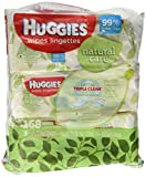 Health & Personal Care : Huggies Natural Care Fragrance Free Soft Pack Wipes - 3 packs of 56 sheets each; 168ct. total