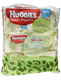 Huggies Natural Care Fragrance Free Soft Pack Wipes - 3 packs of 56 sheets each; 168ct. total BOBEBE Online Baby Store From New York to Miami and Los Angeles