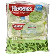 Huggies Natural Care Fragrance Free Soft Pack Wipes - 3 packs of 56 sheets each; 168ct. total
