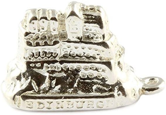 Edinburgh Castle Bracelet Charm in Sterling Silver