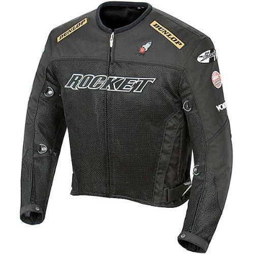 Joe Rocket Men's UFO 2.0 Mesh Motorcycle Jacket (Black, 4...