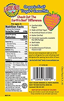 Earth's Best Organic Fruit Yogurt Smoothie, Strawberry Banana, 4.2 Ounce (Pack Of 12) 7