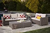 Keter California 3-Seater Seating Patio Sofa with