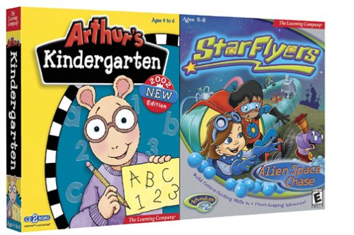 Arthur's Kindergarten and StarFlyers Alien Space Chase - PC/Mac