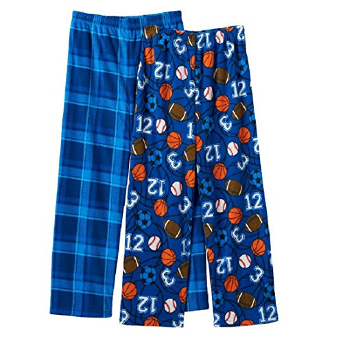 - Mad Dog Big Boys' 2pk All Sports & Plaid Sleep Pants (X-Large)