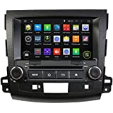 KUNFINE Android 6.0 Otca Core Car DVD GPS Navigation Multimedia Player Car Stereo For Mitsubishi Outlander 2006 2007 2008 2009 2010 2011 2012 Steering Wheel Control 3G Wifi Bluetooth Free Map Update