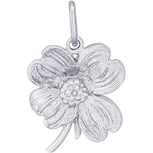 Rembrandt Charms Dogwood Charm, Sterling Silver - Dogwood Charm
