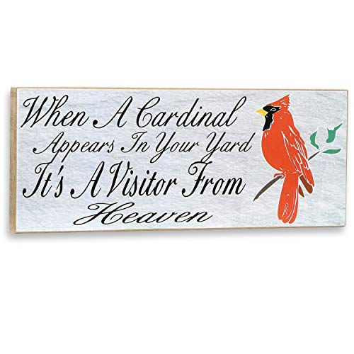 When a Cardinal Appears in Your Yard It is a Visitor from Heaven Wall Plaque from Plum Hill