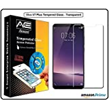 Annant Entp™ Premium Full Screen Edge To Edge Coverage 2.5D Curved HD+ Tempered Glass Screen Guard Protector For Vivo V7 Plus Transparent
