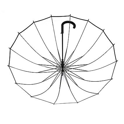 DCAH Paraguas, Transparente, Gruesa, pequeña, Fresca, Fresca, Creativa, Mango