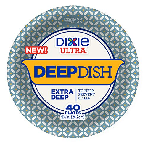 - Dixie Ultra Extra Deep Dish Paper Plates, Count of 40