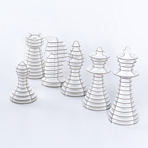 Cardboard Chess Piece Bundle (White)