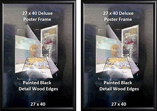 Poster Art House 27-Inch-by-40-Inch Poster Frame, Black Fini