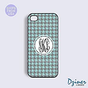 Monogrammed Case Cover For SamSung Galaxy S4 Mini model - Turquoise Grey Pattern
