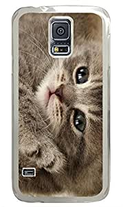 Samsung Galaxy S5 Enron Cat PC Custom Samsung Galaxy S5 Case Cover Transparent