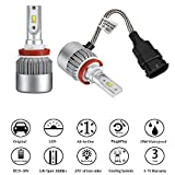 h11 55w led headlight bulb - H8/H9/H11 LED Headlight Bulbs Conversion Kit 72W 7600LM 6000K Cool White for Car Halogen HID Xenon Replacement, Clear Bright Arc-Beam of Auto Headlamp W/ All-in-one Design-3 Yr Warranty(2PCS)