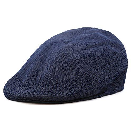 The Hat Depot 1100 Mesh Newsboy Ivy Hat (S/M, (White Golf Cap)