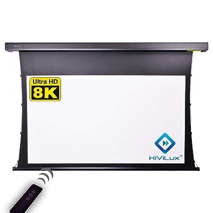 HiViLux TXN – Pantalla de proyector motorizada, ganancia 1,0, tela ...